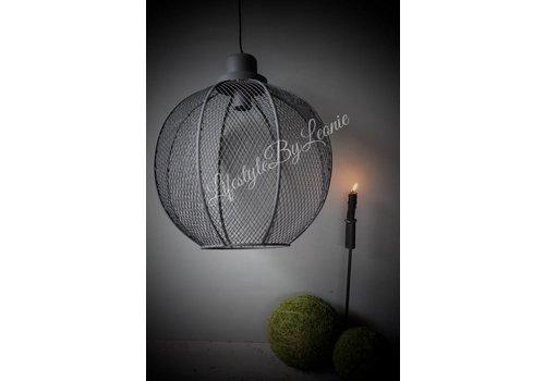 LifestyleByLeonie Sobere ronde metalen hanglamp Indy 40 cm