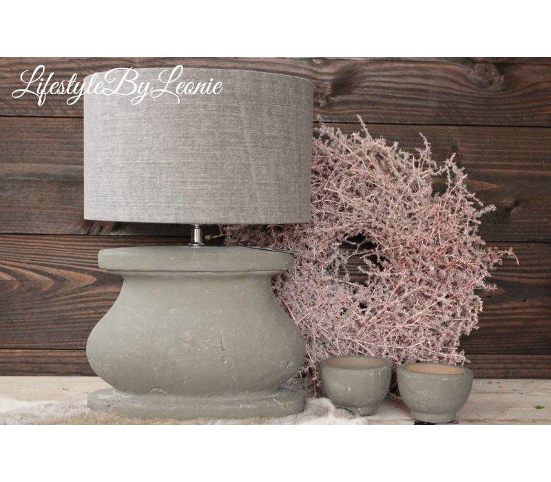 Cilinder lampenkap Stone washed Grey 30 cm
