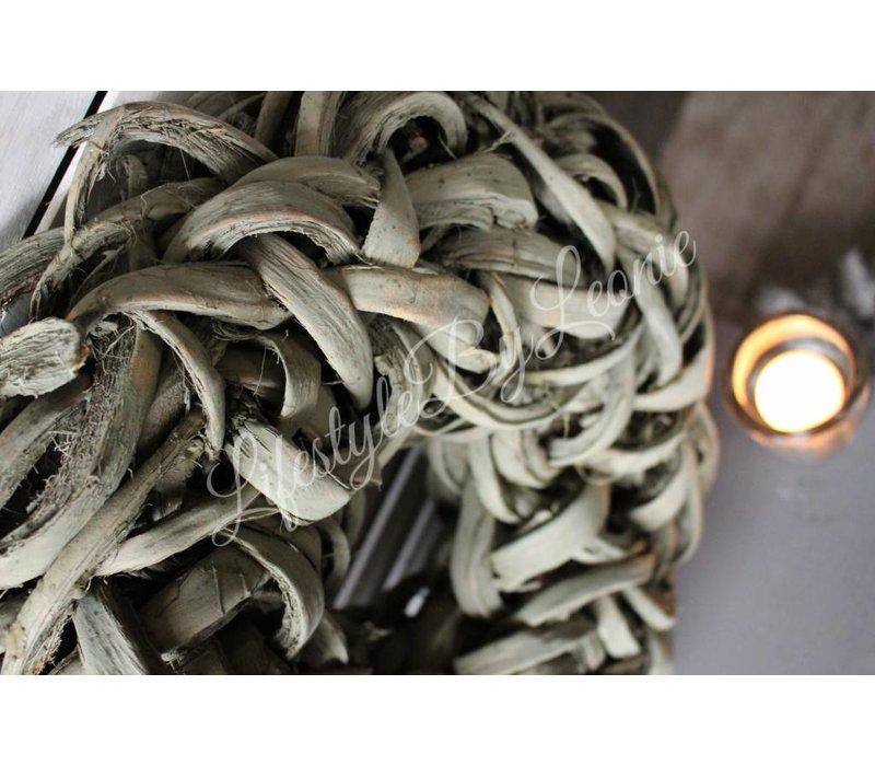 Krans Coco slice olive 40 cm