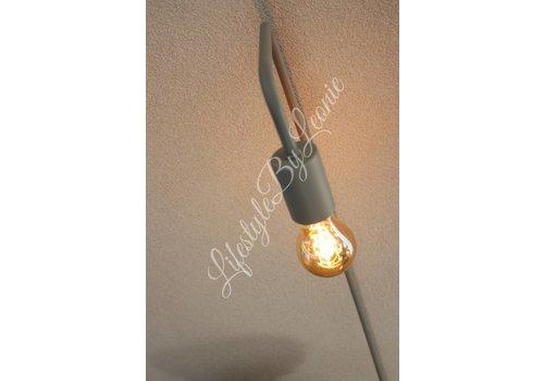 LifestyleByLeonie Vloerlamp lichtgrijs 145 cm