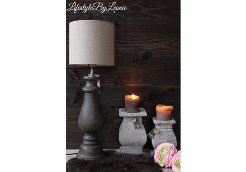 LifestyleByLeonie Houten baluster lampenvoet Amy Brown wash