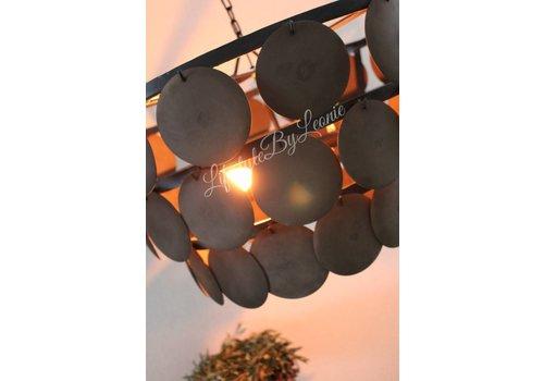 LifestyleByLeonie Grote schijfjes hanglamp Rusty