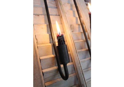 LifestyleByLeonie Smeedijzeren luik kandelaar dinerkaars 50 cm