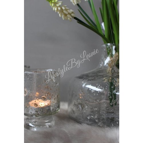 Vaas Bubbles met steenslag 15 cm