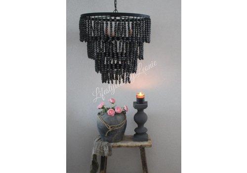 LifestyleByLeonie Grote hanglamp zwarte kralen