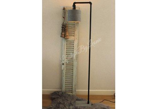 LifestyleByLeonie Sobere vloerlamp mat zwart marmer