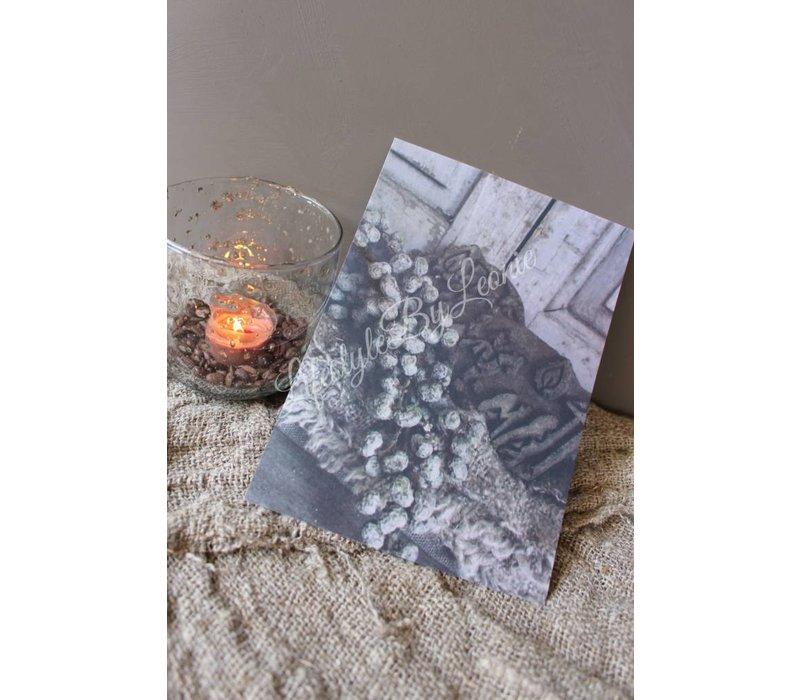 Sobere kaart Ornament met dadels