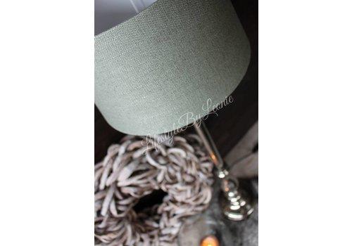 LifestyleByLeonie Lampenkap Drum green celadon 30 cm