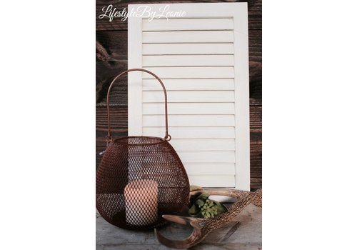 Louvre luik Ibiza mini whitewash 50 cm