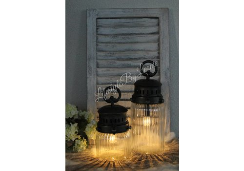 LED lamp France ribbel glas - maat S