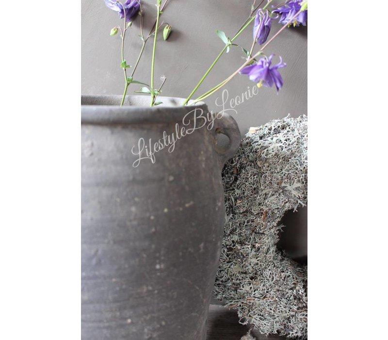 Authentieke stenen Chinese leemkruik grijs