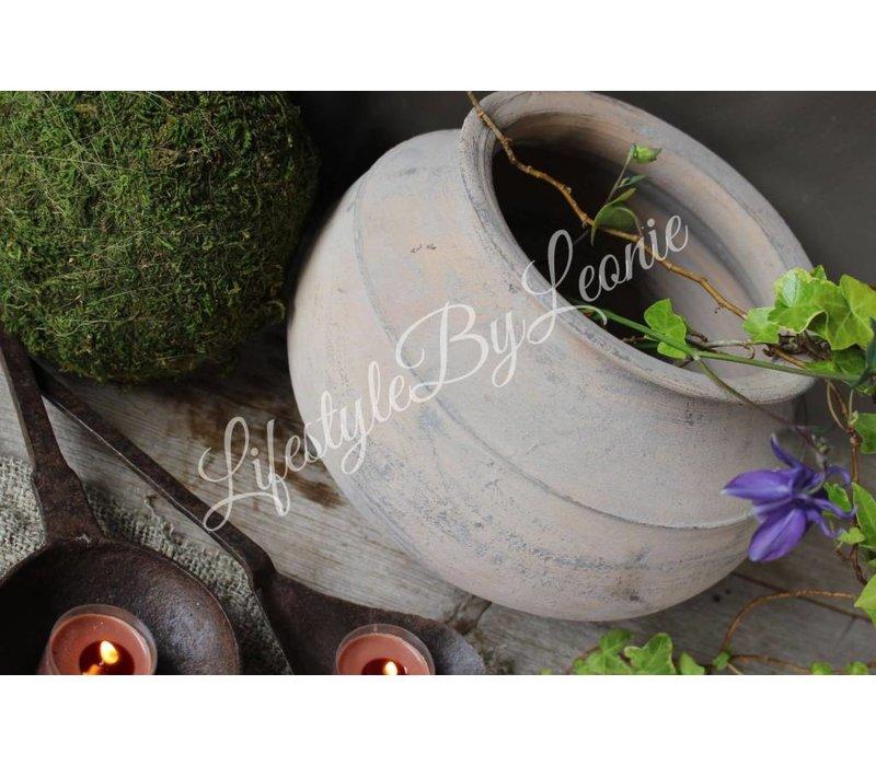 Oude stenen tuimelkruik uit India 22 cm