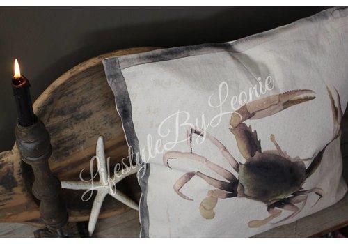 LifestyleByLeonie Kussen Holy Crab 50 x 50 cm