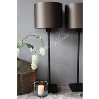 Sobere mat zwarte lampvoet 45 cm