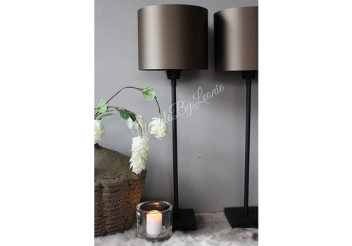 LifestyleByLeonie Sobere mat zwarte lampenvoet 45 cm
