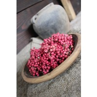 Roze pepperberries krans - maat S