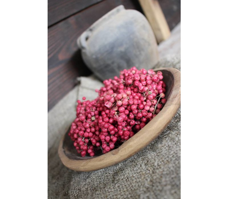 Roze Pepperberries krans 11-14 cm