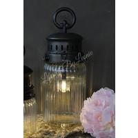 LED lamp France ribbel glas - maat M