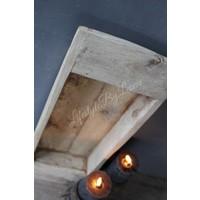 Houten vierkante trog Natural Wood