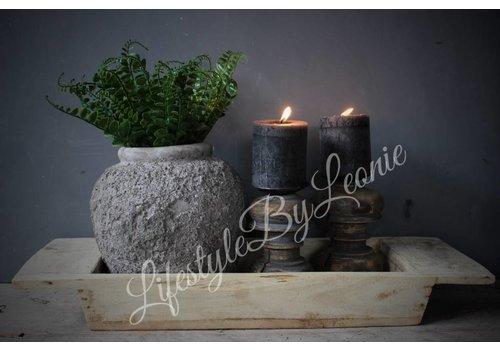 LifestyleByLeonie Houten vierkante trog Natural Wood