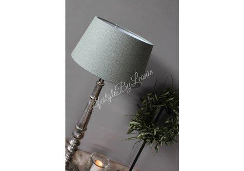 LifestyleByLeonie Lampenkap Drum green celadon 25 cm