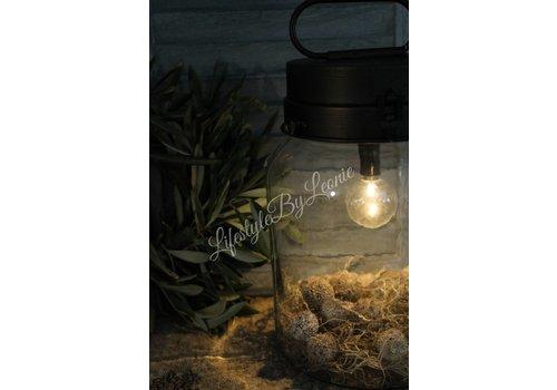 LifestyleByLeonie Zwarte LED weckpot lamp 22 cm