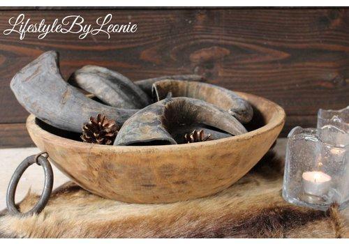 LifestyleByLeonie Buffelhoorn bruin grijs 25 - 30 cm
