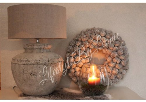 LifestyleByLeonie Krans Atafruit Whitewash 45 cm