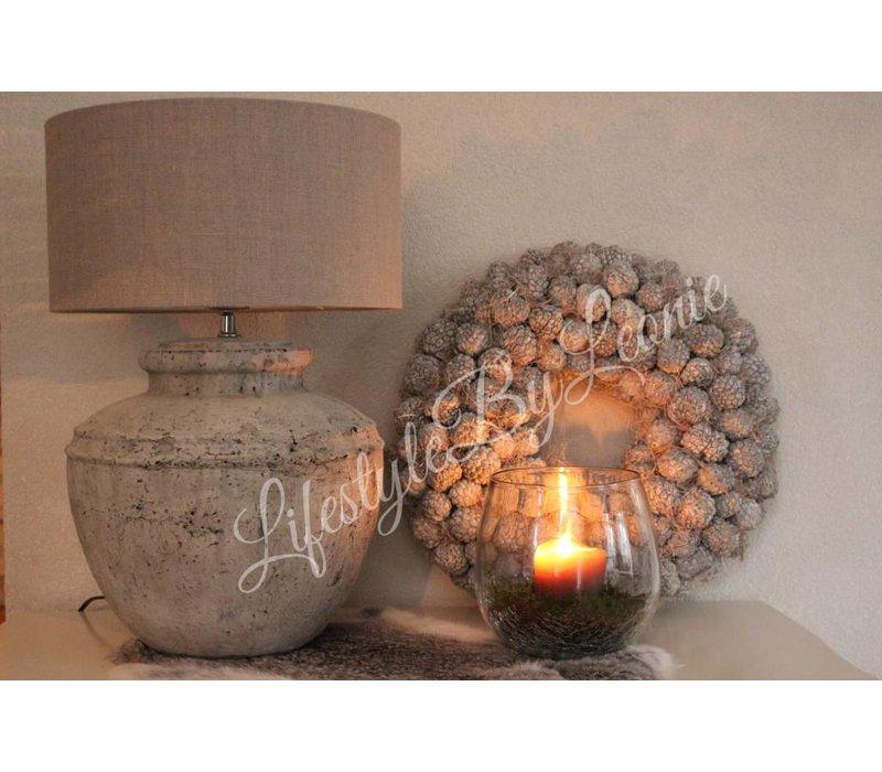 Krans Atafruit whitewash 45 cm