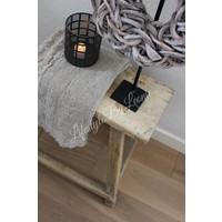 Chinese oude houten kruk bijzettafel