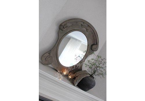 LifestyleByLeonie Ossenoog spiegel Oeil de boeuf Naturel wood 86 x 69 cm