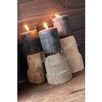 Houten baluster kandelaar Natural wood