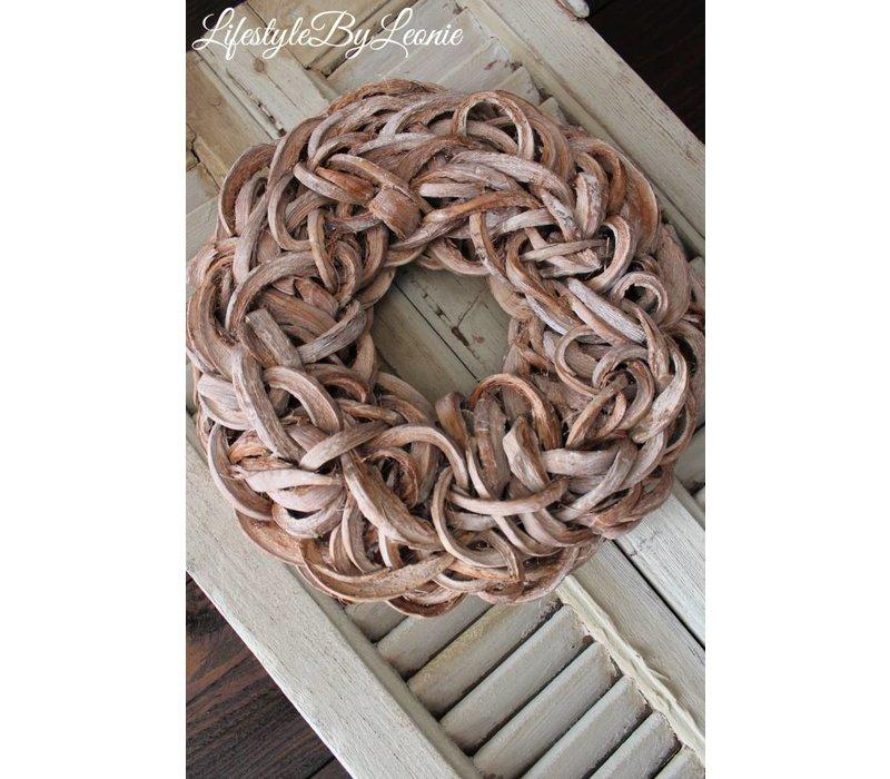 Krans Coco slice Naturel 40 cm