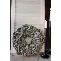 Krans Coco slice light grey 40 cm