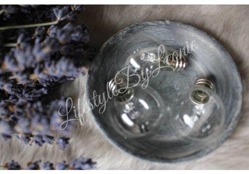 LifestyleByLeonie Losse lamp / kogel / peertje voor LED Lantaarn