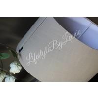 Grote ovale lampenkap Lies naturel 40 cm