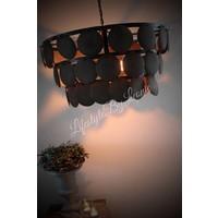 Grote schijfjes hanglamp Rusty