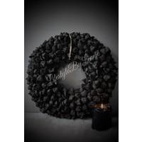 Krans Coco fruit Black 40 cm