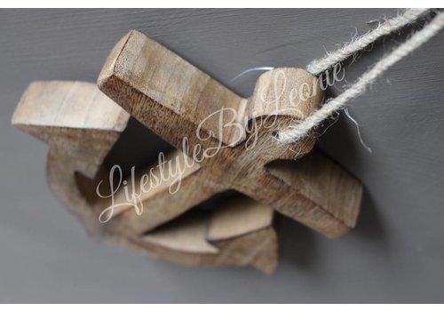 LifestyleByLeonie Houten hanger Anker van donker hout