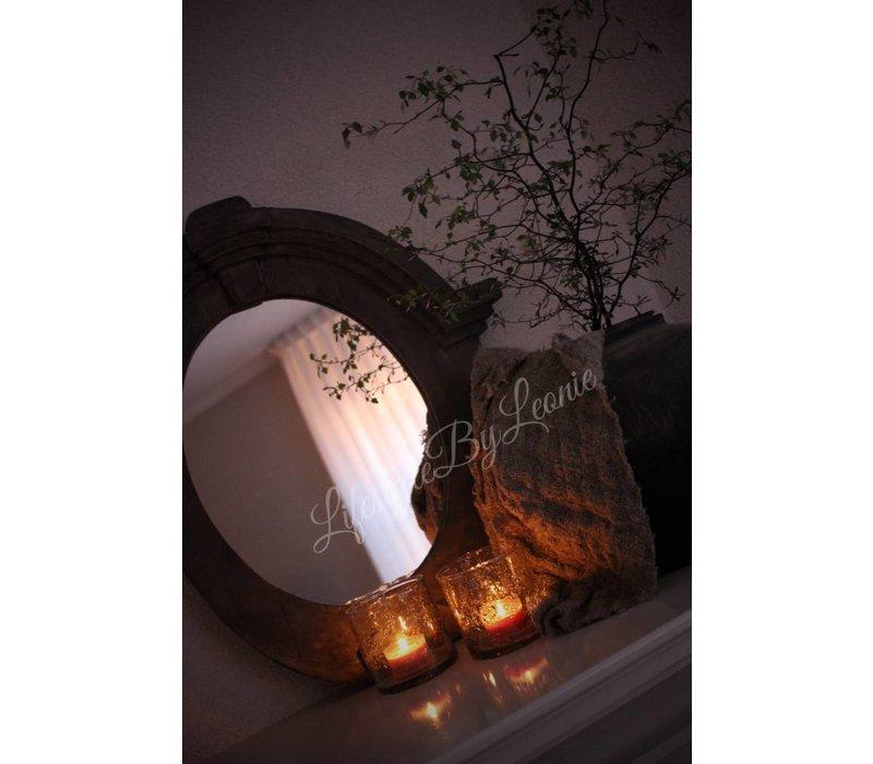 Windlicht Edge bubbels 9 cm