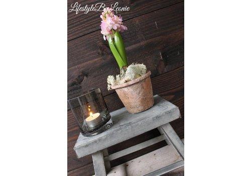LifestyleByLeonie Zijden Hyacinth met bol Roze