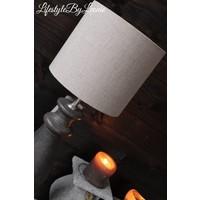 Cilinder lampenkap Linnen naturel 20 cm