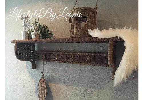 LifestyleByLeonie Rustic rattan kapstok - maat L