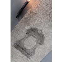 Shabby linnen wanddoek Ossenoog
