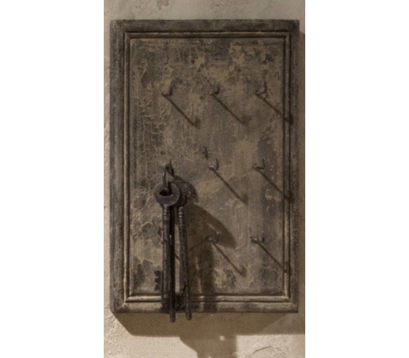 Houten sleutelrekje Old grey
