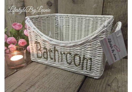 LifestyleByLeonie Rattan mand Bathroom white
