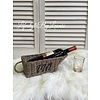 LifestyleByLeonie Rattan wijnmandje Wine / Vin