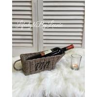 Rattan wijnmandje Wine / Vin