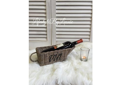 LifestyleByLeonie Rattan wijnmandje Wine Vin