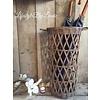 Rattan paraplumand open weave
